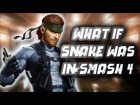What If Solid Snake Was In Smash for WiiU & 3DS?