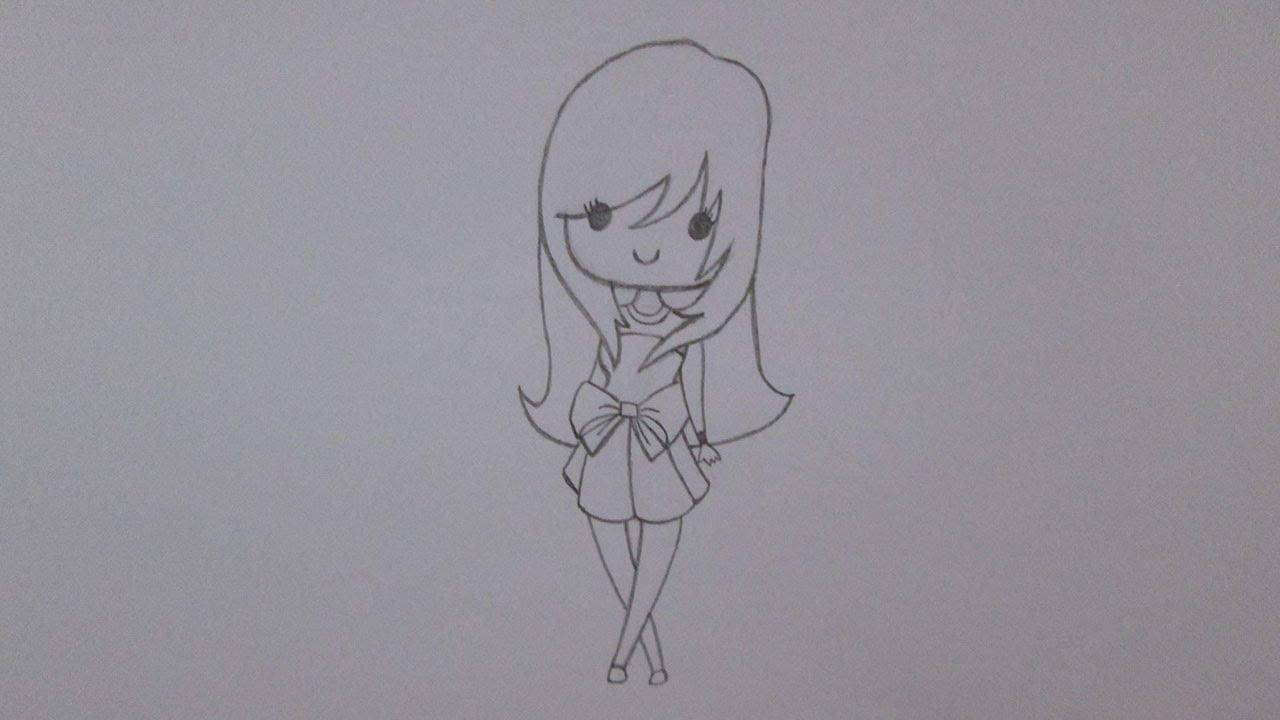 Como Desenhar Uma Garota Da Moda Youtube
