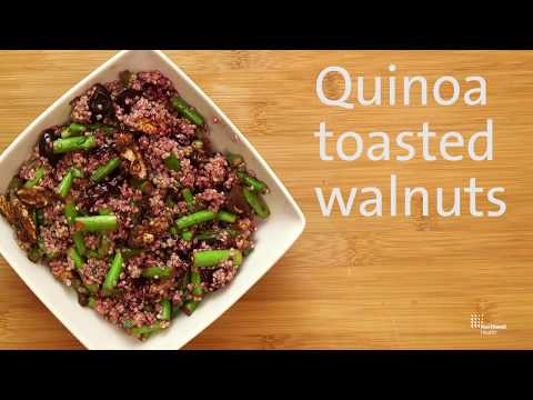 A Simple And Easy Quinoa Salad With Toasted Walnuts And Asparagus