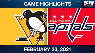 NHL Game Highlights | Penguins vs. Capitals - Feb. 23, 2021