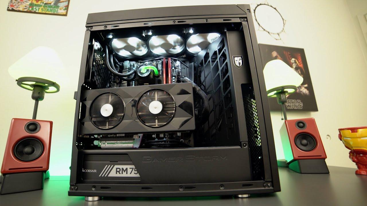 The T Virus 1300 00 Gaming Pc Build Vertical Gpu