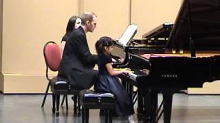 annie plays mozart piano concerto no 23 in a major kv 488 3rd mvt