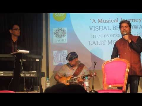 Vishal Bhardwaj live performance - Paani Paani Re