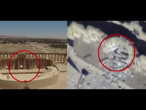 Russian MoD releases drone footage of Roman theater in Palmyra blown up by ISIS