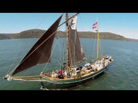One Wooden Sailing Ship, One Quadrocopter Drone and 5 Teenagers