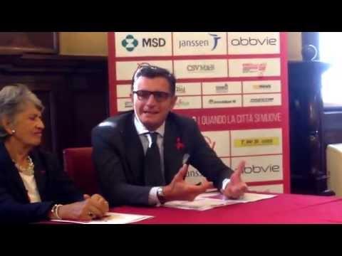 Andrea Galbiati, presidente Monza Marathon team, presentazione: AIDS RUNNING IN MUSIC