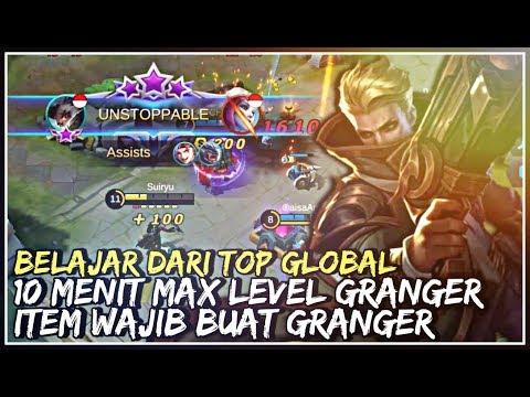 10 Menit Max Level Granger ! Belajar Dari Top Global Item Wajib Buat Granger - Mobile Legends - 동영상