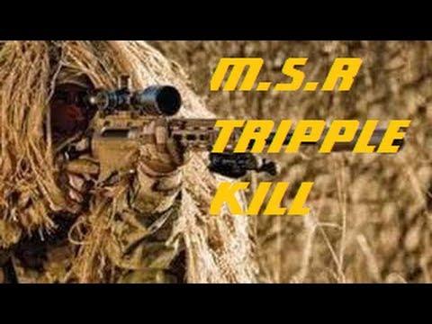 MW3 INSANE MSR TRIPLE KILL NO SCOPE !