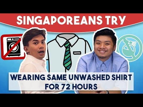 Singaporeans Try: Wearing Same Unwashed Shirt For 72 Hours