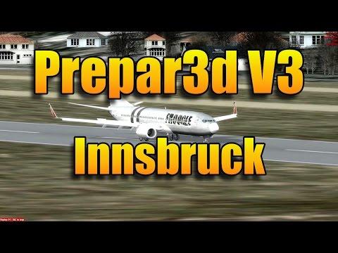 PREPAR3D V3 - INNSBRUCK LOC/DME 08 EAST