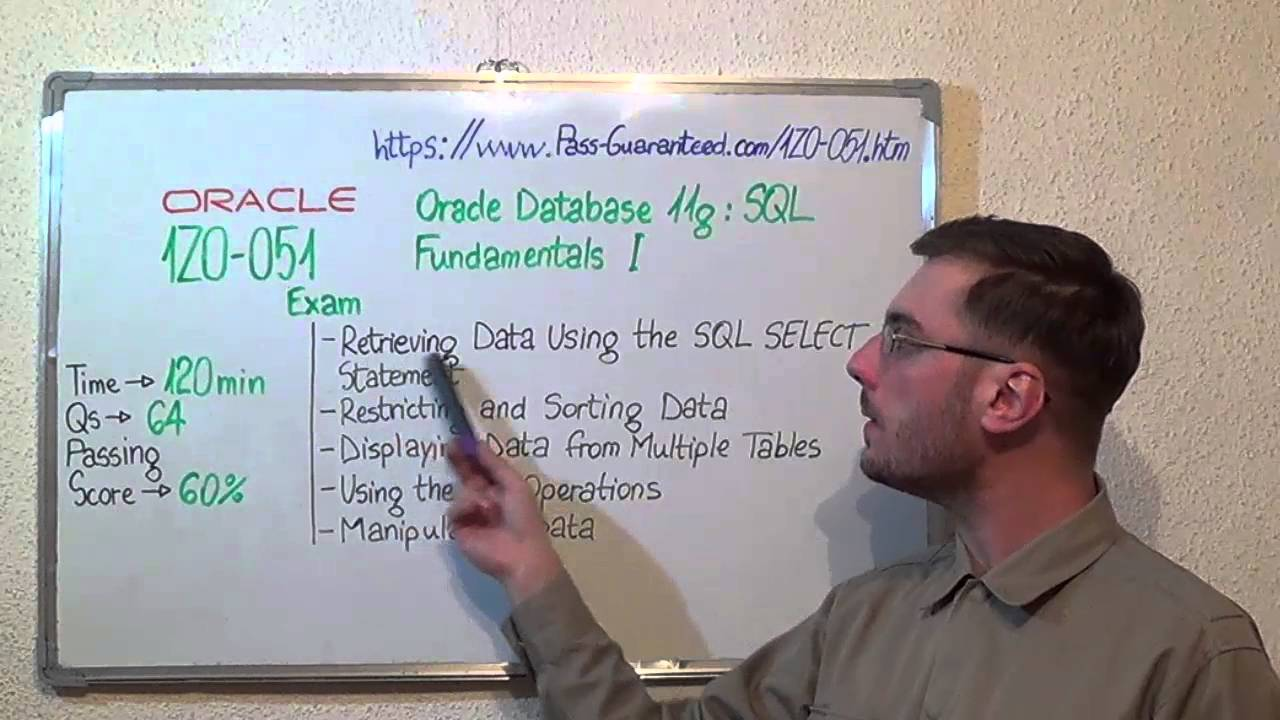 1z0 051 Oracle Exam Database 11g Sql Test Fundamentals Questions