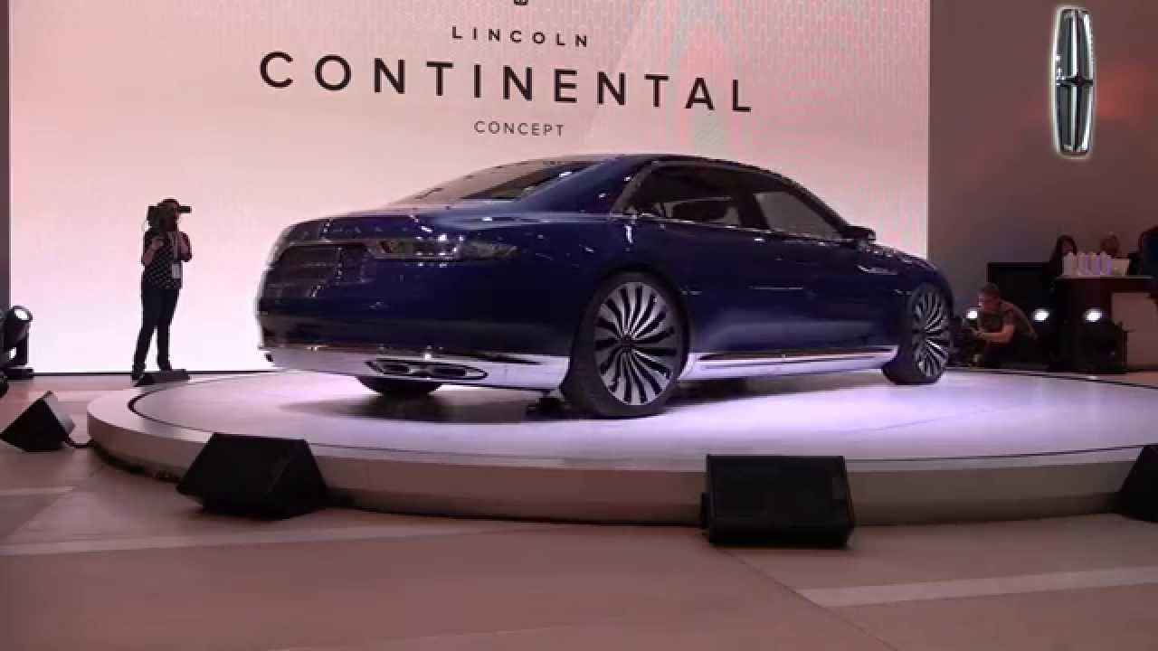 lincoln continental concept 1st look at the new york auto show youtube. Black Bedroom Furniture Sets. Home Design Ideas