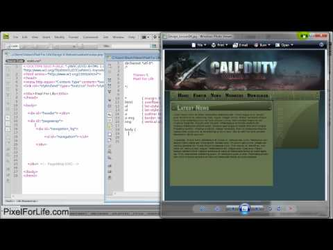 Photoshop Website Coding-Part1