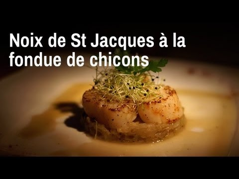 Recette de chef : noix de St-Jacques à la fondue de ...