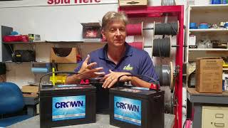 Crown AGM Deep Cycle Battery