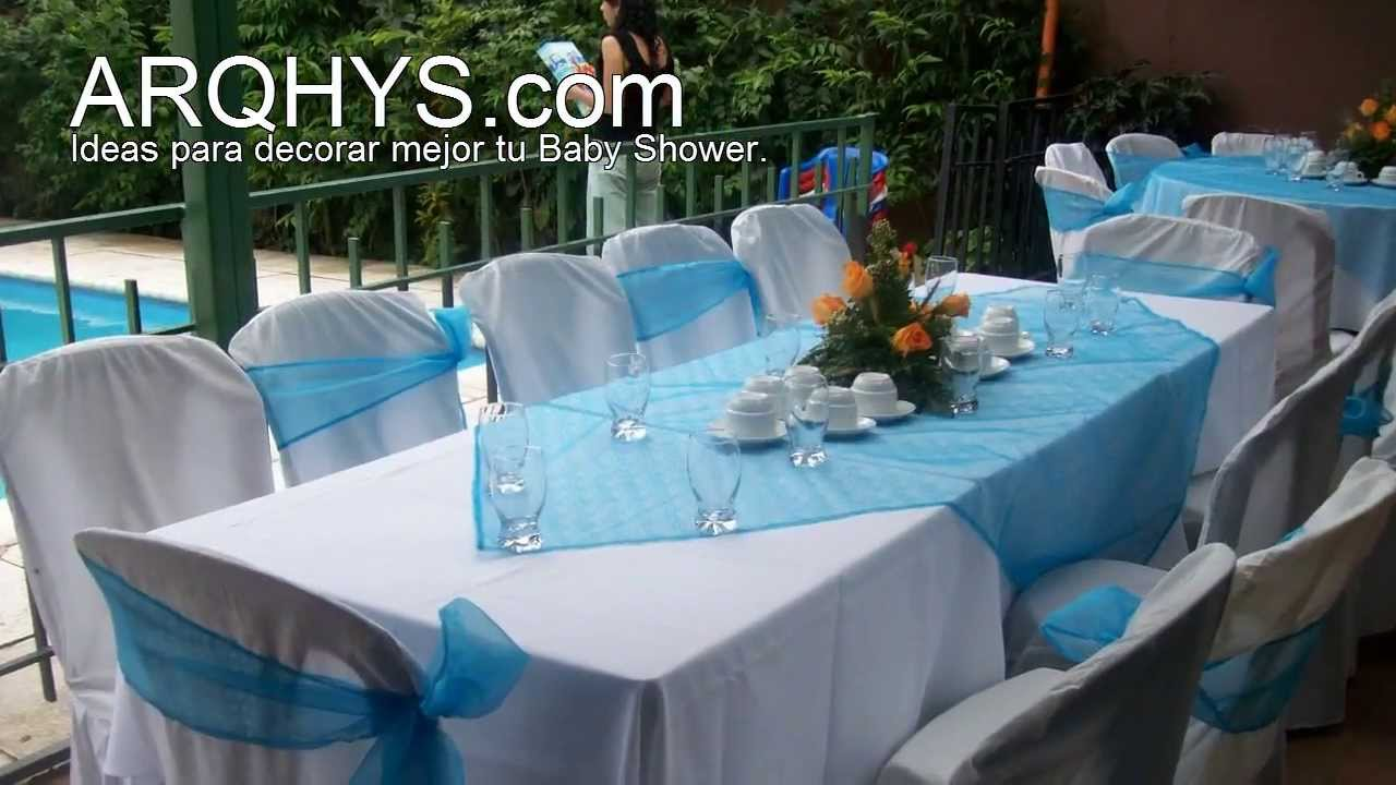 Ideas para un baby shower economico youtube for Decoracion casa shower