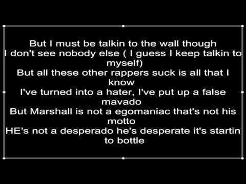 Eminem - Talking 2 myself Lyrics
