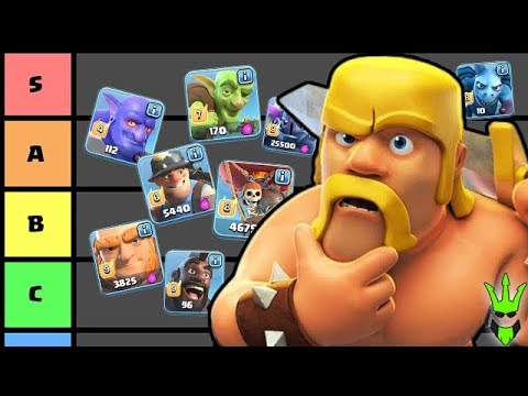 CLASH OF CLANS TROOP TIER LIST