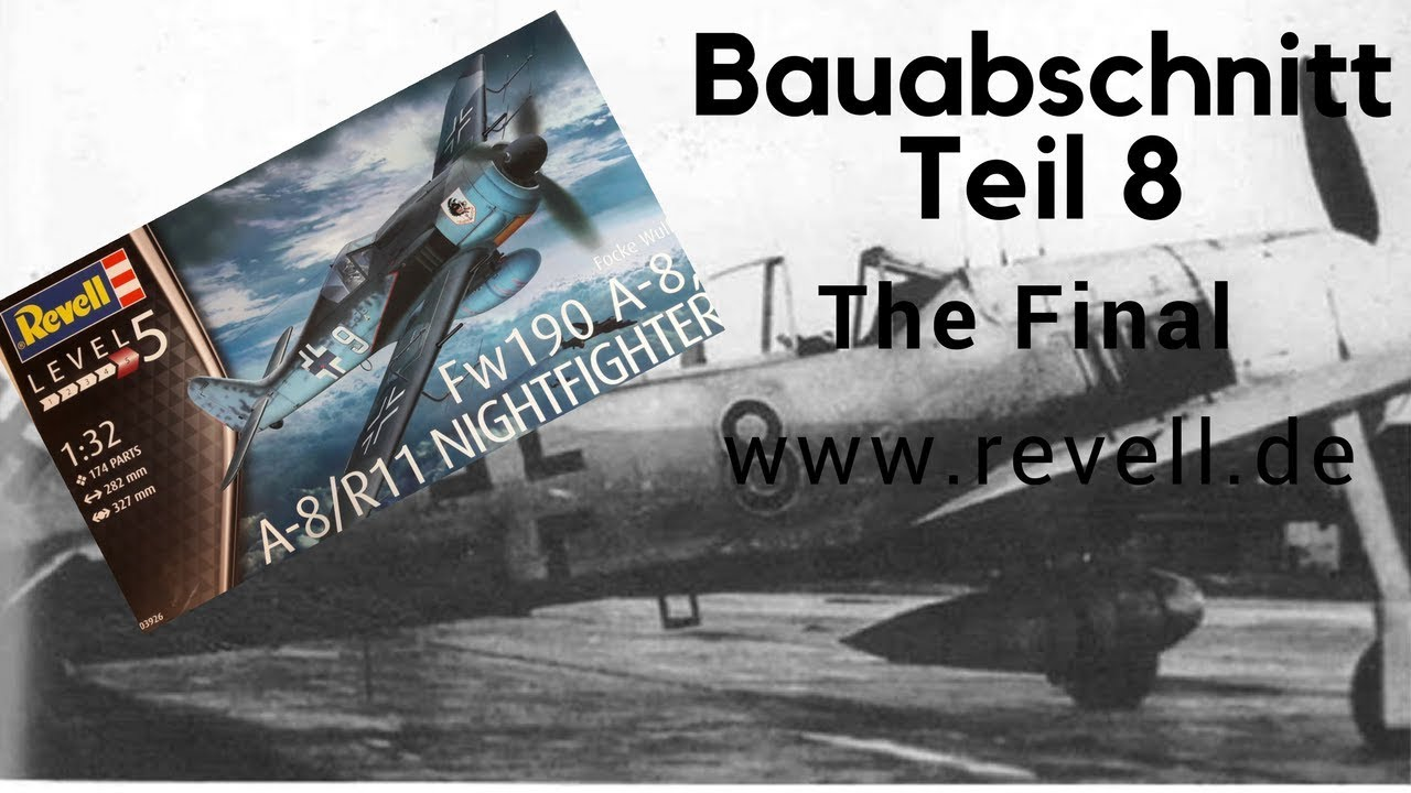 REVELL 03926 1:32 FOCKE-WULF Fw190 A-8 Nightfighter Aircraft Kit