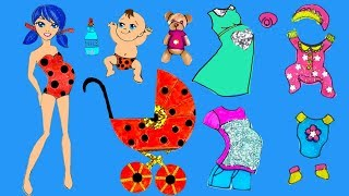 Download Paper dolls family dress up Ladybug & Cat Noir mother & daughter costumes dresses papercrafts. Mp3 and Videos