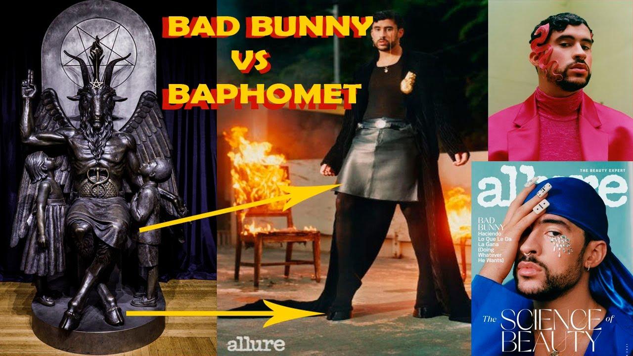 BAD BUNNY SE VISTE DE BAPHOMET PARA LA REVISTA ALLURE  | NUEVO AMANECER