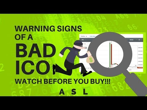 Warning Signs of a Bad ICO - Cryptocurrency ASL