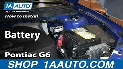 How to Replace Dead Battery 05-10 Pontiac G6