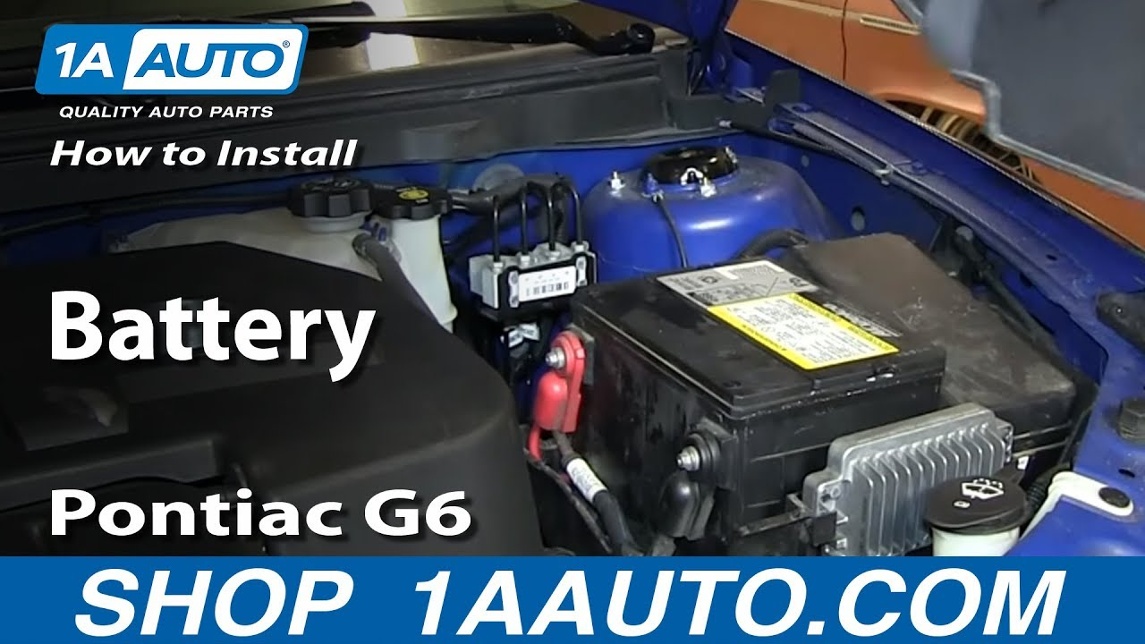 How To Install Replace Dead Battery 2005 10 Pontiac G6