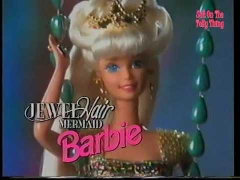 Advert Barbie Jewel Hair Mermaid Barbie 1996 Youtube