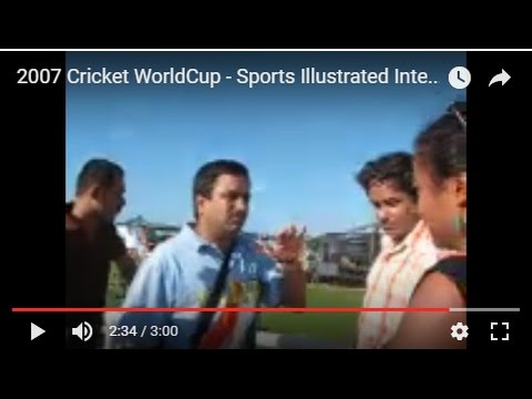 2007 Cricket WorldCup - Sports Illustrated Interview, Jamaica, West Indies