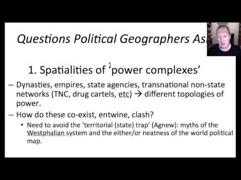 Lecture 1: Introduction to Political Geography: Four Questions