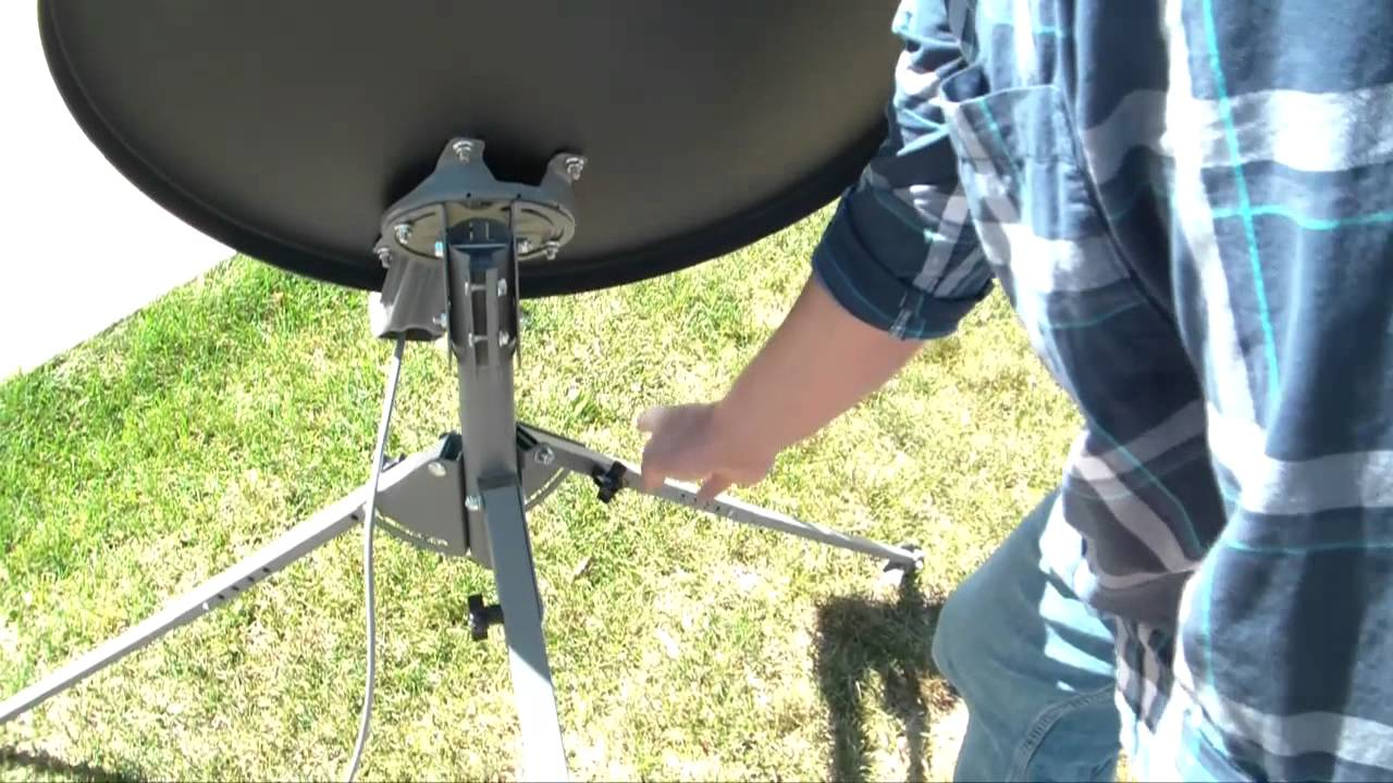 7 Leveling The Tripod Tr 6100 Winegard Portable