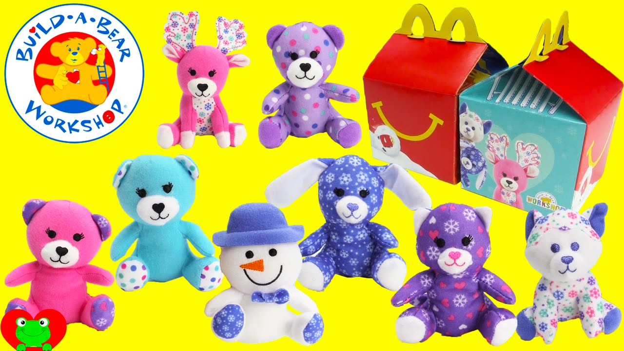 2015 Mcdonalds Happy Meal Toys Build A Bear Workshop Youtube
