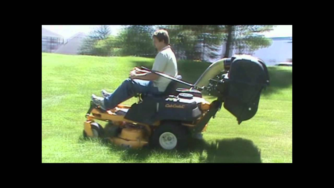 Cub Cadet Rzt With Protero Pv 212 Lawn Vacuum Leaf Gr Catcher