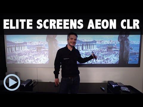 Test: Kurzdistanz Rahmenleinwand Elite Screens AEON CLR Starbright Edge Free Hochkontrast