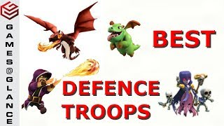 Clash Of Clans Top 3 Best Defense Troop Combos with Proof !