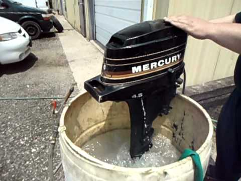 4.5hp mercury outboard motor test video