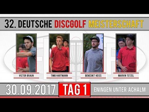 32. Deutsche Discgolf  Meisterschaft 2017 | Tag 1 | V. Braun, T. Hartmann, B. Heiß, M. Tetzel
