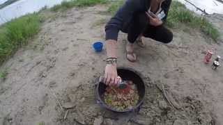 Cooking Gumbo Outdoors : Dutch Oven Cooking
