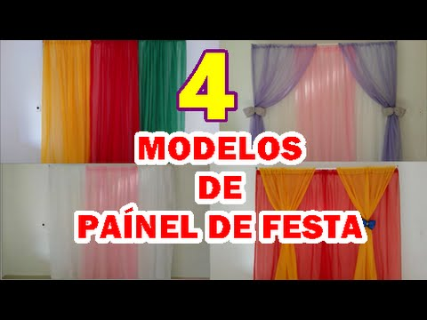 4 MODELOS DE PANEL DE CORTINA PARA FESTA INFANTIL  YouTube