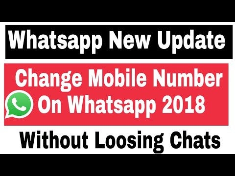 Whatsapp New Update-How To Change Mobile Number On Whatsapp 2018 - 동영상