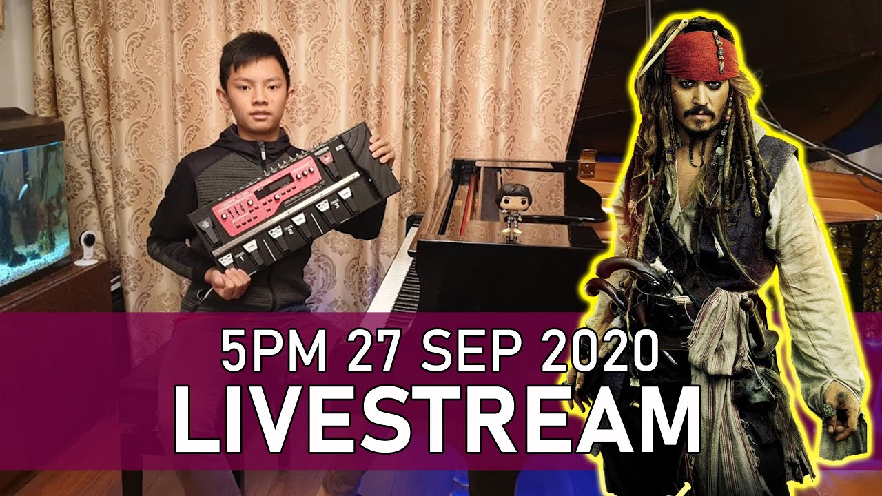 Sunday Piano Livestream 5PM Looper Special Superstition & Pirates Cole Lam 13 Years Old