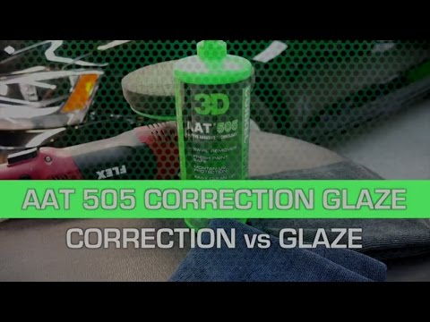 AAT 505 with montan wax for CORRECTION vs GLAZE on scratches with a foam pad