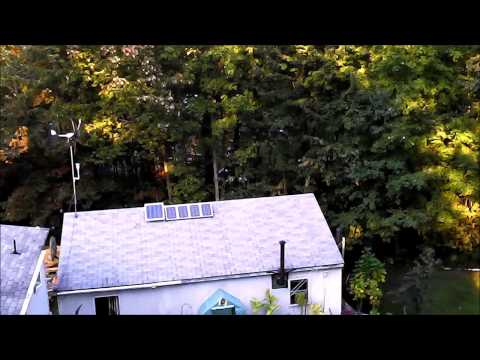 High Up drone HD video from New Hampshire over my house