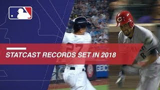 Record-breaking Statcast moments from the 2018 season