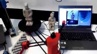 Test 3D Scanner Ciclop(Lo scanner 3D Ciclop in acquisizione con il software open source Horus., 2015-06-29T14:38:44.000Z)