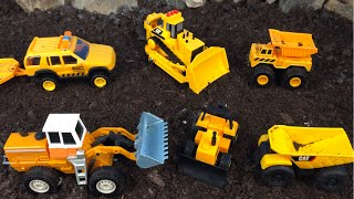 Mighty Machines on a Mission - Construction Vehicles Dump Trucks Excavators Bulldozer at jobsite