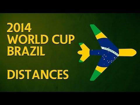2014 FIFA World Cup Distances - WorldCupOfJoe.com