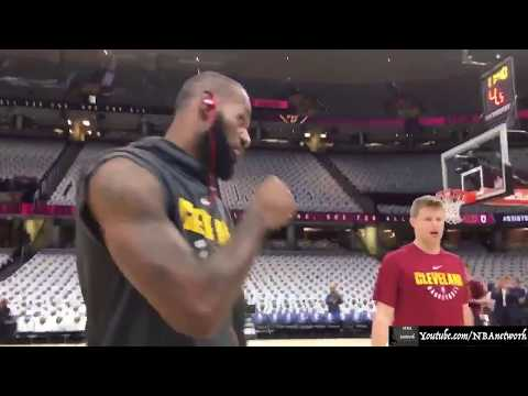 Lebron James Getting Ready for the Tip-off! October 17, 2017