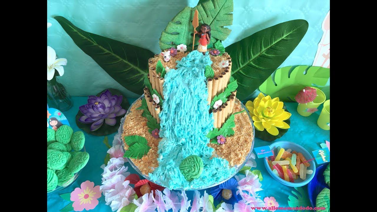 Gâteau Vaiana Moana Cake Tutoriel Facile Anniversaire
